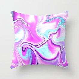 City Lights at Night Color Melt Throw Pillow