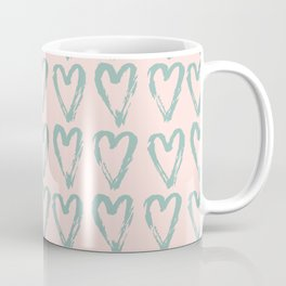 Love Heart Pattern - Mix & Match with Simplicty of life Coffee Mug