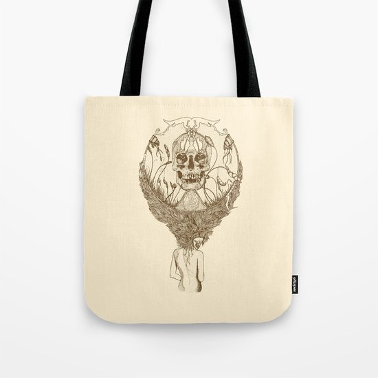 lady death // brown Tote Bag