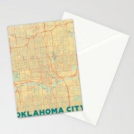 Oklahoma City Map Retro Stationery Cards