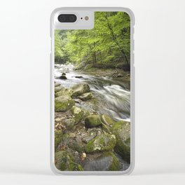 Mountain Stream in the Smoky Mountains Clear iPhone Case