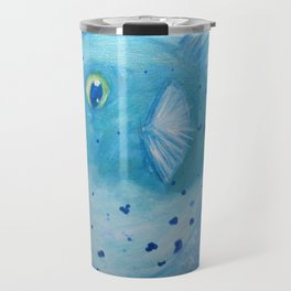 Friendly Fugu (Blue) Travel Mug