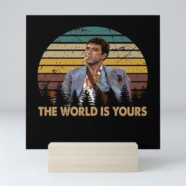 Tony Montana - World is yours Mini Art Print