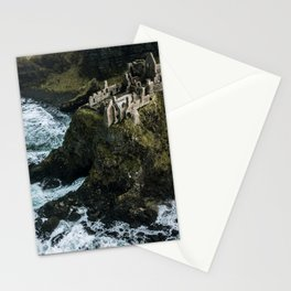 Castle ruin by the irish sea - Landscape Photography Stationery Cards