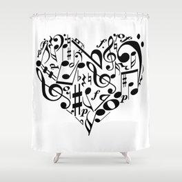 Music love Shower Curtain