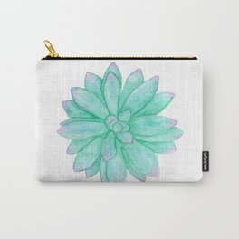 Pachyveria - Green and Red Succulent Carry-All Pouch