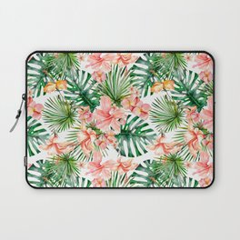 Tropical Jungle Hibiscus Flowers - Floral Laptop Sleeve