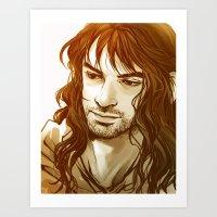 kili Art Prints featuring Kili by lorna-ka