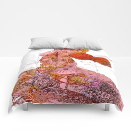 Violins Pink Serenade  Comforters