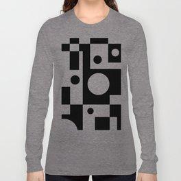 Black & White Abstract II Long Sleeve T-shirt