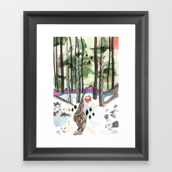 Bagby Trail Framed Art Print