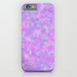Lilac Clouds - Speckled Floral Watercolor Texture iPhone Case