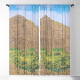 Volcanic heart Sheer Curtain