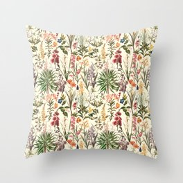 Secret Garden VI Throw Pillow