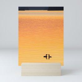 Summer Evening by The Lake at Sunset #decor #society6 #buyart Mini Art Print
