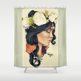 Bohemian Girl Shower Curtain