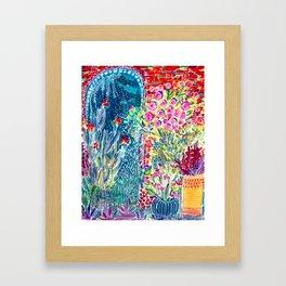 Inside the Garden of Good and Happy Framed Art Print