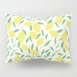 Lemons and Leaves Pattern Pillow Sham