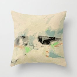 abstract landscape 3 Throw Pillow