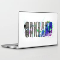 oakland Laptop & iPad Skins featuring Oakland by Tonya Doughty