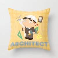 architect Throw Pillows featuring Architect by Alapapaju