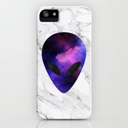 Galaxy Alien on Marble - tumblr trendy iPhone Case
