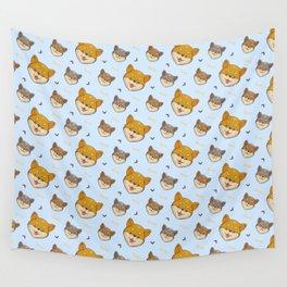 Shiba Inu Dog Kawaii Pattern Gift Wall Tapestry