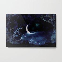 Moon Scene Metal Print