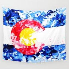 COLORADO PAINT FLAG Wall Tapestry