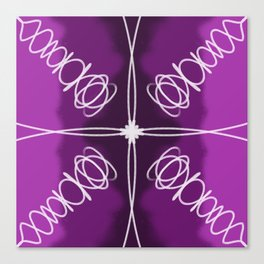 Purple Fade Lines Canvas Print
