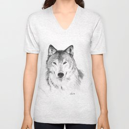 Wolf head Unisex V-Neck