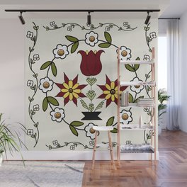 Dutch Country Floral Wall Mural