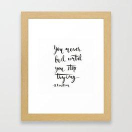 Einstein Calligraphy quote Framed Art Print