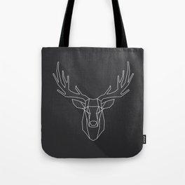 Geometric Deer Head Tote Bag