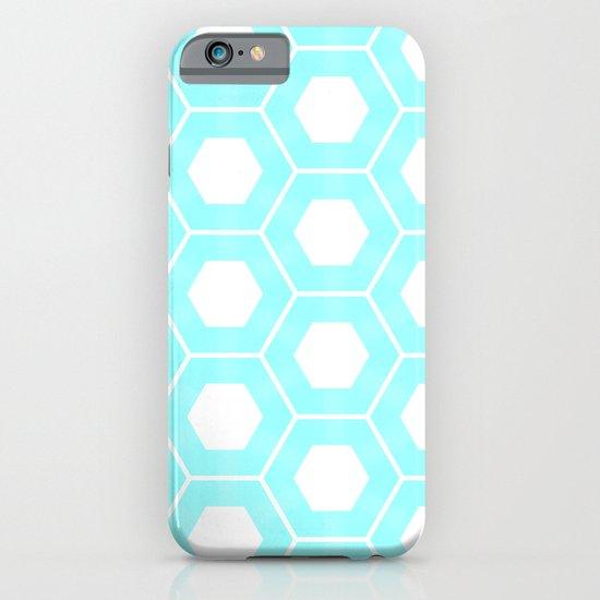 Nieuwland Powder Blue Hexagons Pattern iPhone & iPod Case