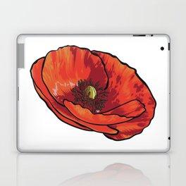 Orange Poppy Flower Laptop & iPad Skin