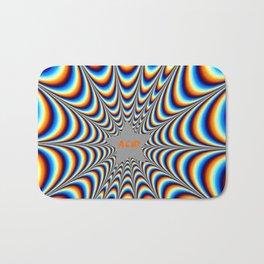 acid funky funny drippy design Bath Mat