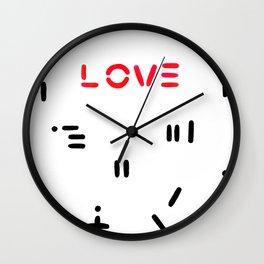 Love & Pattern Wall Clock