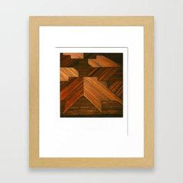 Wooden Star Framed Art Print