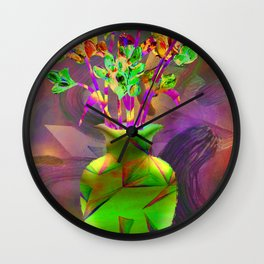 Remixed abstractions into digital still life Wall Clock