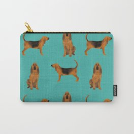 Bloodhound dog breed pet pattern hounds dog portrait bloodhounds gifts Carry-All Pouch