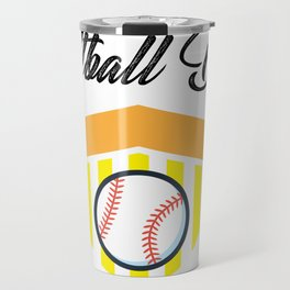 Softball And Dad For Men - Fathers Day Gifts Travel Mug
