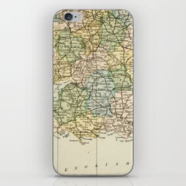 England and Wales Vintage Map iPhone Skin