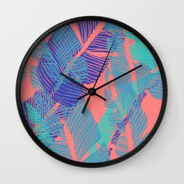 Carved Fluo Jungle #society6 #decor #buyart Wall Clock