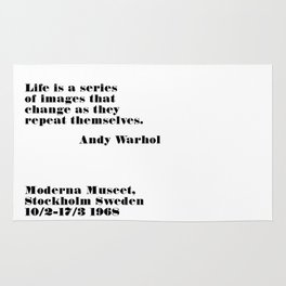 series of images - andy quote Rug
