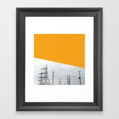 Orange Pylons Framed Art Print