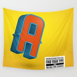 Find your TYPE Wall Tapestry