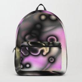 black liquid abstract Backpack