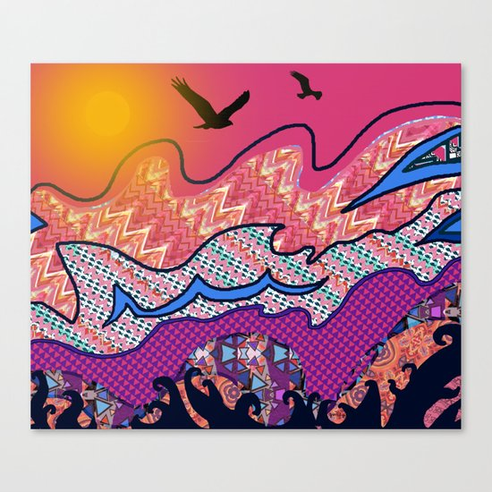 Over the Pink Sea Canvas Print