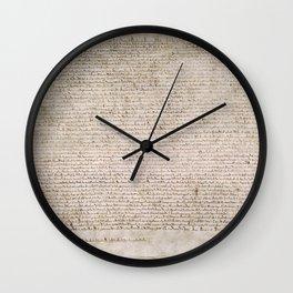 The Magna Carta 0f 1215 Wall Clock